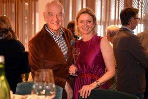 Monika Gröller mit Herman Döllerer im Restaurant Bootshaus